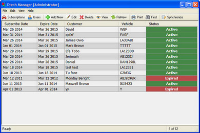 Dtech Car Tracking Manager