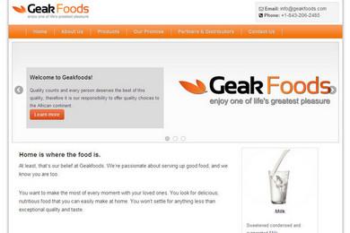 Geakfoods Website