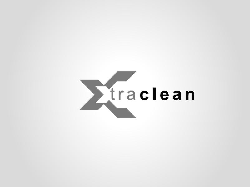 xtra clean logo design