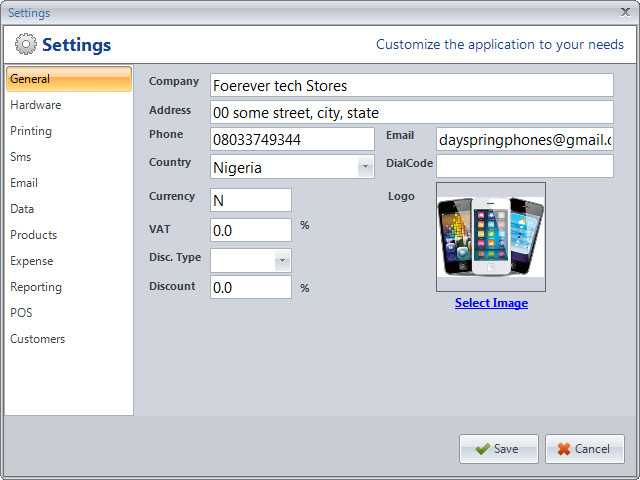Swiftshop pos retail and inventory management customize settings