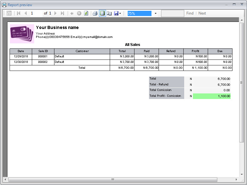 Swiftshop Retail POS inventory management reports business